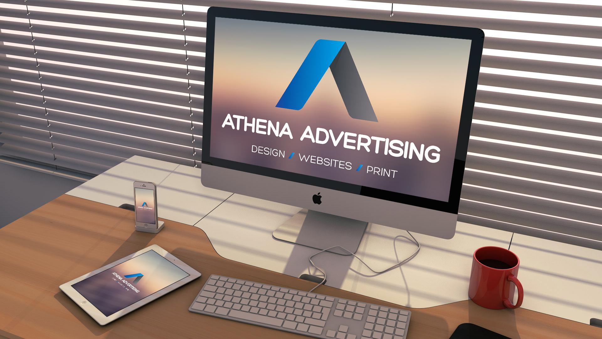 athena advertising website