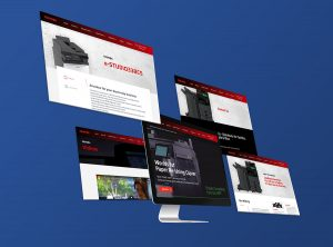 toshiba website design